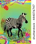 vector illustration of zebra in ...   Shutterstock .eps vector #444076747