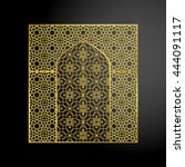 oriental golden gate or... | Shutterstock .eps vector #444091117