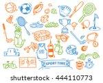 sport themed doodle | Shutterstock .eps vector #444110773