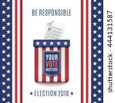 american election 2016... | Shutterstock .eps vector #444131587