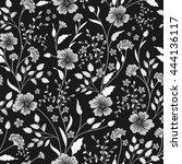 sunny pastel floral print.... | Shutterstock .eps vector #444136117