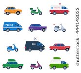 collection of different cars... | Shutterstock .eps vector #444143023