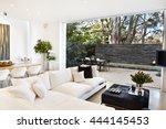 beautiful living room... | Shutterstock . vector #444145453