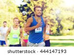 fitness  sport  race and... | Shutterstock . vector #444147193