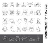 line icons   farm | Shutterstock .eps vector #444157963