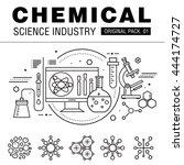 modern chemical science... | Shutterstock .eps vector #444174727