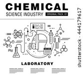 modern chemical science... | Shutterstock .eps vector #444179617
