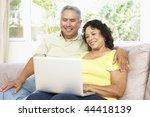 senior couple using laptop at... | Shutterstock . vector #44418139