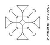 stroke linear isolated... | Shutterstock .eps vector #444190477