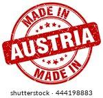 made in austria stamp | Shutterstock .eps vector #444198883