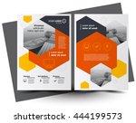 flyer brochure design  business ... | Shutterstock .eps vector #444199573