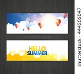 banner with abstract summer... | Shutterstock .eps vector #444203047