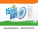 independence day of india. 15... | Shutterstock .eps vector #444214123