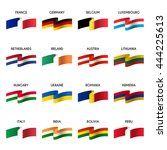 vector set of national flags.... | Shutterstock .eps vector #444225613