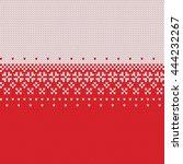 winter sweater design. fairisle ... | Shutterstock .eps vector #444232267