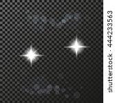 vector sparkles white symbols... | Shutterstock .eps vector #444233563