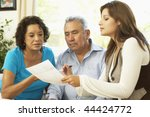 senior couple with financial... | Shutterstock . vector #44424772