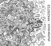 cartoon cute doodles hand drawn ... | Shutterstock .eps vector #444250723