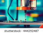 pcb processing on cnc machine.... | Shutterstock . vector #444252487