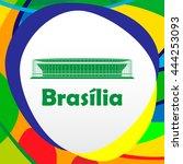 football stadium. 2016. brasilia   Shutterstock .eps vector #444253093