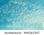 blue sky with clouds background | Shutterstock . vector #444261547
