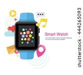 smart watch device display ... | Shutterstock .eps vector #444265093