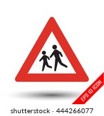 pedestrians traffic sign.... | Shutterstock .eps vector #444266077