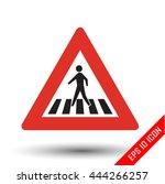 pedestrian crossing traffic... | Shutterstock .eps vector #444266257