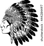 american indian chief   Shutterstock .eps vector #444284497