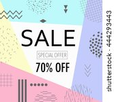sale and special offer poster... | Shutterstock .eps vector #444293443