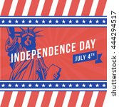 independence day   4th july | Shutterstock .eps vector #444294517