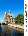 view of church of the savior on ... | Shutterstock . vector #444298063