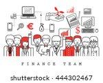 finance team on white... | Shutterstock .eps vector #444302467