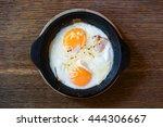homemade ham and cheese... | Shutterstock . vector #444306667