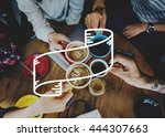 banner advertise copy space... | Shutterstock . vector #444307663