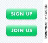 sign up  join us green isolated ...