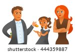 sly husband doesn't want to pay ... | Shutterstock .eps vector #444359887