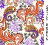 seamless pattern with lilac... | Shutterstock .eps vector #444361303