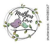 cute  cartoon birds in vector | Shutterstock .eps vector #444380167