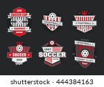 vector set badges logos red for ... | Shutterstock .eps vector #444384163