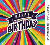 happy birthday colorful card...   Shutterstock .eps vector #444385453