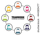 business teamwork and... | Shutterstock .eps vector #444385477