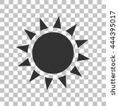 sun sign illustration. dark...
