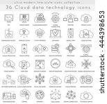 vector genetics and... | Shutterstock .eps vector #444398653
