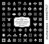 56 ornamental elements for... | Shutterstock .eps vector #444407917