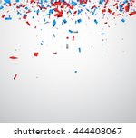 background with red  white ... | Shutterstock .eps vector #444408067