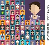 collection of avatars30   65... | Shutterstock .eps vector #444416797