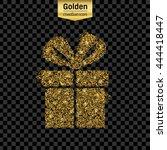 gold glitter vector icon of... | Shutterstock .eps vector #444418447
