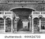 interior of the bodleian... | Shutterstock . vector #444426733
