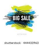 vector grungy scribble banner   ... | Shutterstock .eps vector #444433963